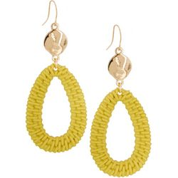 Bay Studio Yellow Open Teardrop Earrings