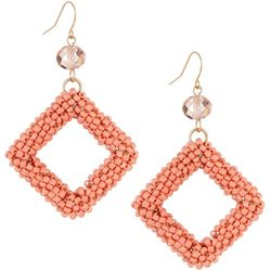 Bay Studio Seedbead Wrap Diamond Drop Earrings