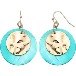 Bay Studio Turquoise Shell Disc Drop Earrings