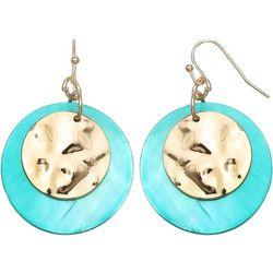 Bay Studio Turquoise Shell Disc Drop Earrings