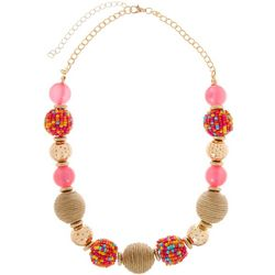 Bay Studio Multi Seedbead & Cord Ball Necklace