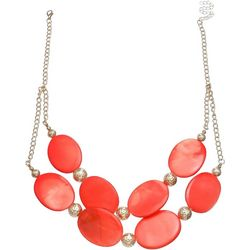 Bay Studio 2 Rw Orange Dyed Shell Frontal Necklace