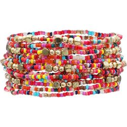 Bay Studio Multi Pink Seedbead Stretch Bracelet Se