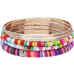 Bay Studio Gold Tone Beaded Multi Row Bangle Bracelet Set