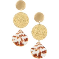 Bay Studio Triple Disc & Shell Drop Earrings