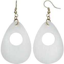 Bay Studio White Shell Teardrop Earrings