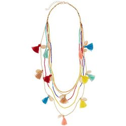 Bay Studio Cowrie Shell & Multi Tassel Necklace