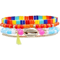 Bay Studio Rainbow Tile 4 Pc Stretch Bracelet Set