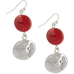 Bay Studio Red Shell Double Drop Earrings