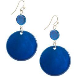 Bay Studio Blue Shell Double Drop Earrings