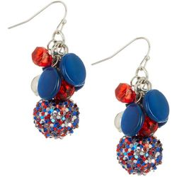 Bay Studio Americana Glitter Ball Cluster Drop Earrings