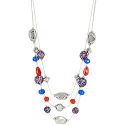 Bay Studio Americana Glitter Beaded Necklace