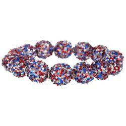 Bay Studio Americana Glitter Bead Stretch Bracelet