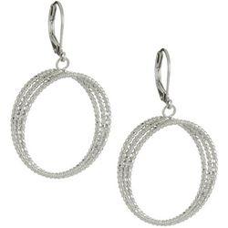 Juniper + Lime Textured Triple Ring Drop Earrings