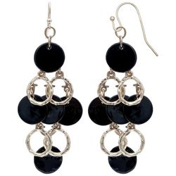 Bay Studio Black Shell Cascading Dangle Earrings