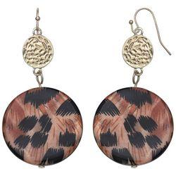 Bay Studio Animal Printed Shell Drop Earrings