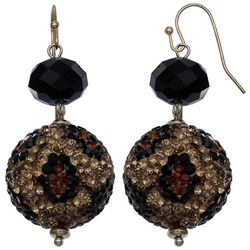 Bay Studio Large Leopard Print Bead Drop Earrings