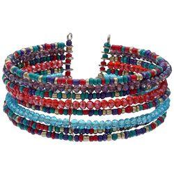 Bay Studio Multi Row Seed Bead Wire Cuff Bracelet