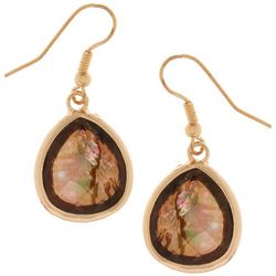 Bay Studio Faceted Abalone Drop Earrings