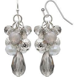 Bay Studio Grey Beaded Cluster Dangle Earrings