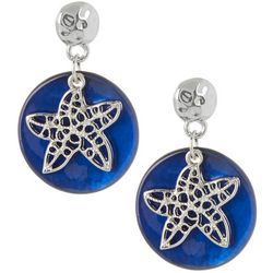 Bay Studio Blue Shell Starfish Overlay Earrings