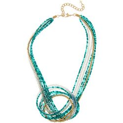 Bay Studio Mixed Multi Row Beaded Knot Necklace