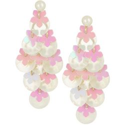 Bay Studio White Shower Pastel Dangle Earrings