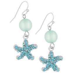 Bay Studio Aqua Blue Starfish Drop Earrings