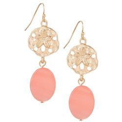 Bay Studio Coral Shell Sand Dollar Drop Earrings