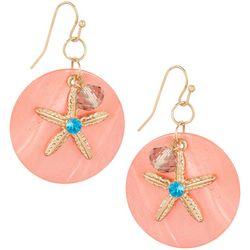Bay Studio Coral Shell Disc Starfish Earrings