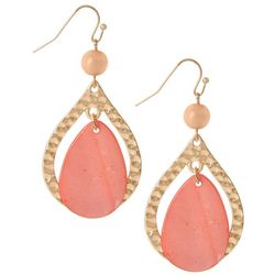 Bay Studio Coral Orange Shell Teardrop Earrings