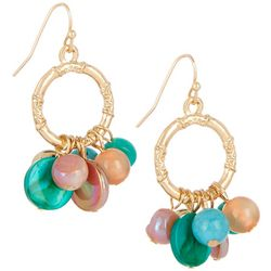 Bay Studio Ring Drop Shell Bead Dangle Earrings