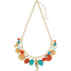 Bay Studio Coral Multi Sea Life Charm Necklace