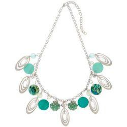 Bay Studio Aqua Blue Shell Coastal Charm Necklace