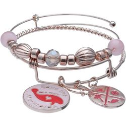 Chubby Mermaids Pink Multi Manatee Bangle Bracelet Set