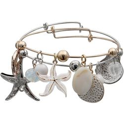 Jules B 2-pc. Sea Life Charm Bangle Bracelet Set