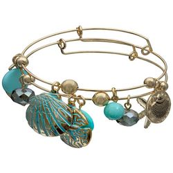 Jules B 2-pc. Seashell & Starfish Bangle Bracelet Set