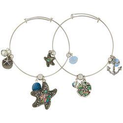 Jules B 2-pc. Blue Multi Starfish Bangle Bracelet Set