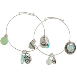 Jules B 2-pc. Grandma Family Blessed Bangle Bracelet Set