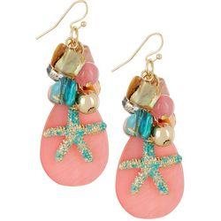 Bay Studio Bead Cluster Starfish Teardrop Earrings