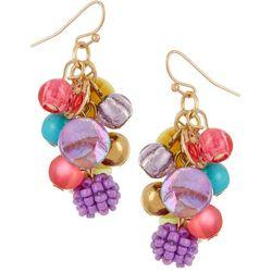 Bay Studio Multi Bead Cluster Drop Earrings