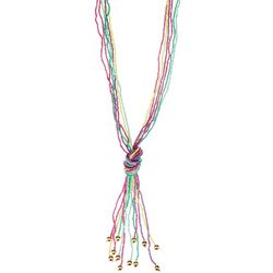 Bay Studio Long Pastel Seed Bead Knot Front Necklace