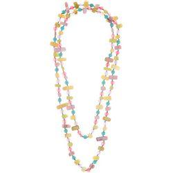 Bay Studio Pastel Beads & Shells Long Necklace