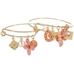 Jules B Pink Multi 2 Pc Flower Fireball Bangle Set