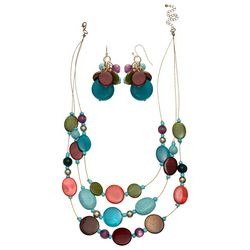 Bay Studio Multi Shell & Bead Illusion Necklace Set