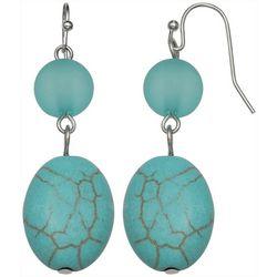 Bay Studio Turquoise Blue Double Drop Earrings