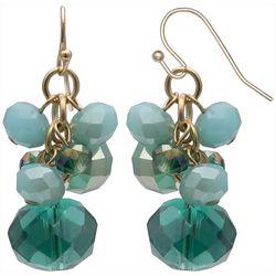 Bay Studio Teal Blue Multi Bead Cluster Earrings