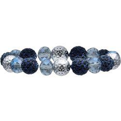 Bay Studio Blue Facet & Fireball Bead Bracelet