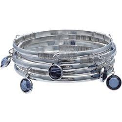 Bay Studio Multi Row Blue Bead Bangle Set
