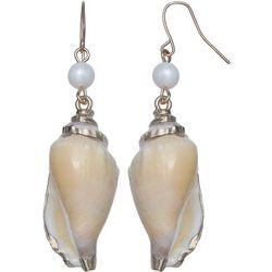 Bay Studio Genuine Shell & Pearl Drop Earrings